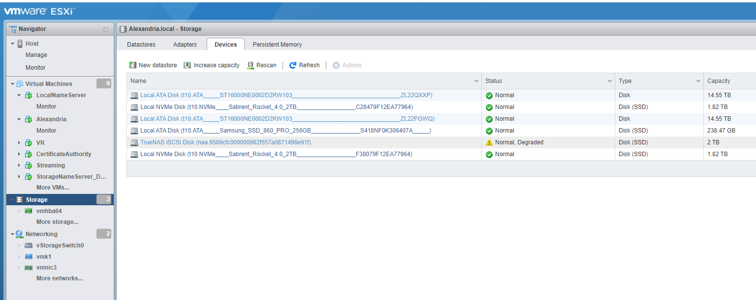 Guest iSCSI ⇔ Host ESXi and vCenter Install